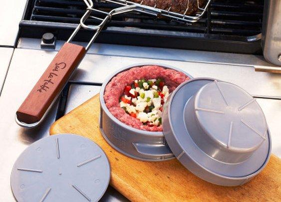 Make stuffed burgers with the Stuff-A-Burger Press