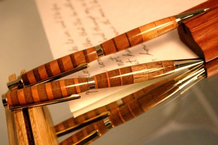 Striped Wood Pen Pencil Set by Hope & Grace Pens
