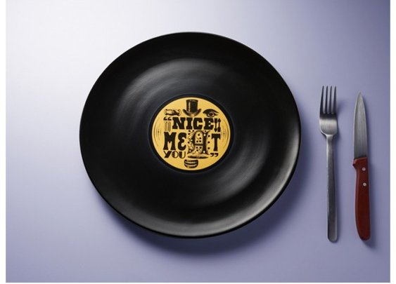 Longtable Vinyl Record Plates: old school turn-tableware