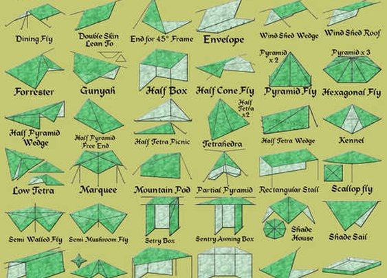 65 Different Tarp Shelters