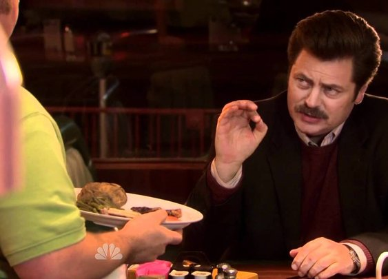 Parks and Recreation - Ron Swanson - Eggs & Bacon - YouTube
