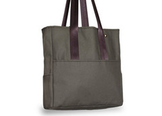 Pocket Canvas Tote Bag- Canvas Green