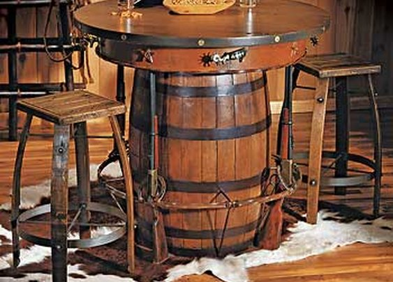 Western Pub Table and Stools  |  Wild Wings