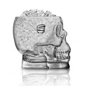 Brain Freeze Glass Skull Ice Bucket   Cheaper Than A Shrink