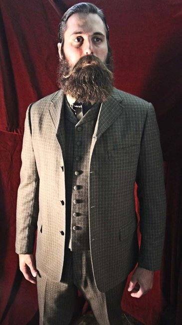 Custom Made to Order 3 piece Sack Suit  4 Button by DandySuit
