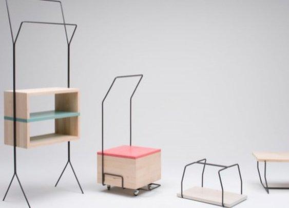 Maisonnette: a space-saving multifunction furniture set