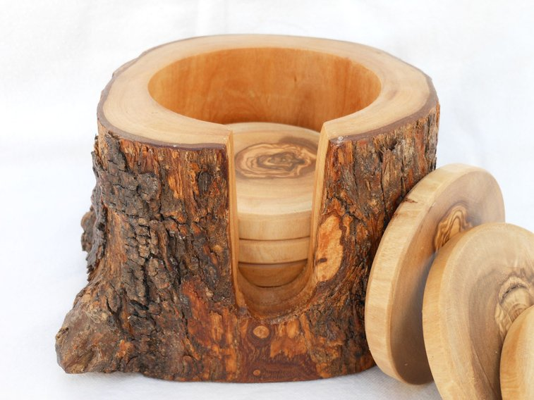 Rustic Wooden Coasters | That Should Be Mine