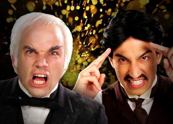 Nikola Tesla vs Thomas Edison.