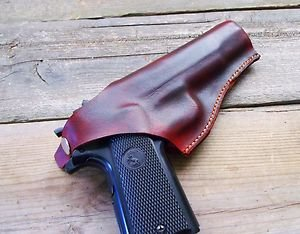Colt 1911 Holster Custom Molded-Thumb Break-Brown-Handmade in the USA