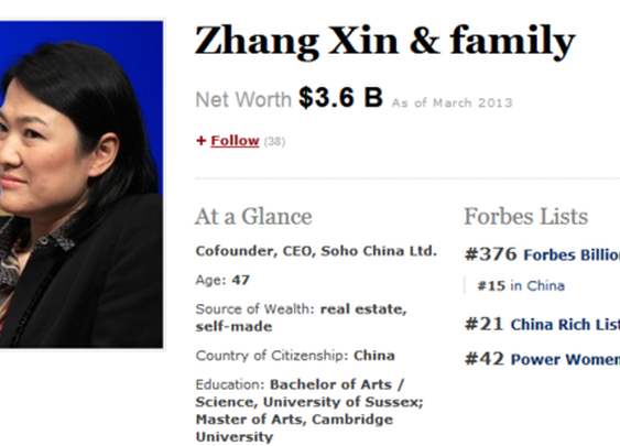 Zhang Xin: self-made woman in China