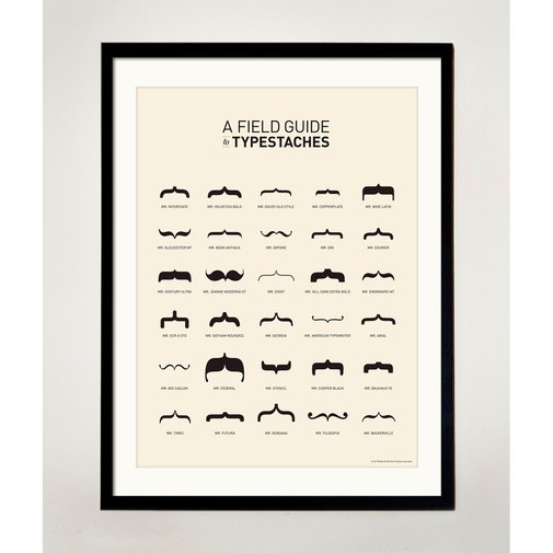 Typestache Poster | That Should Be Mine