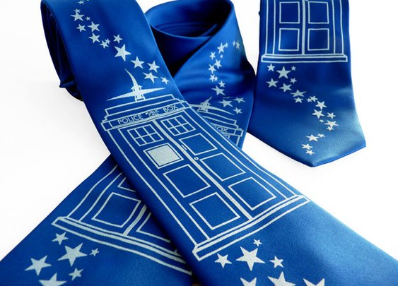 Bigger on the Inside Tie  Doctor Who TARDIS by binarywinter