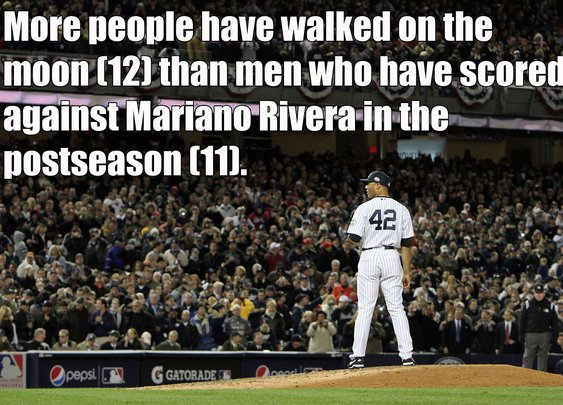 Here's a mind-blowing stat about Mariano Rivera