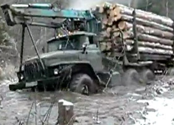No road? No effing Problem for this driver!