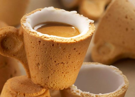 Cookie Cup - Sip the coffee then eat the cup
