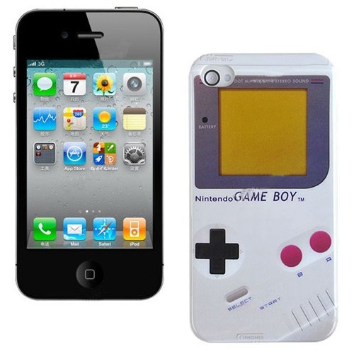 Nintendo Game Boy Hard Back Cover Case Skin for Apple iPhone 4 4G 4S