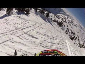Mountain Sled GoPro by Brett Turcotte
