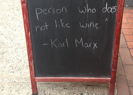 Wine Wisdom from Karl Marx