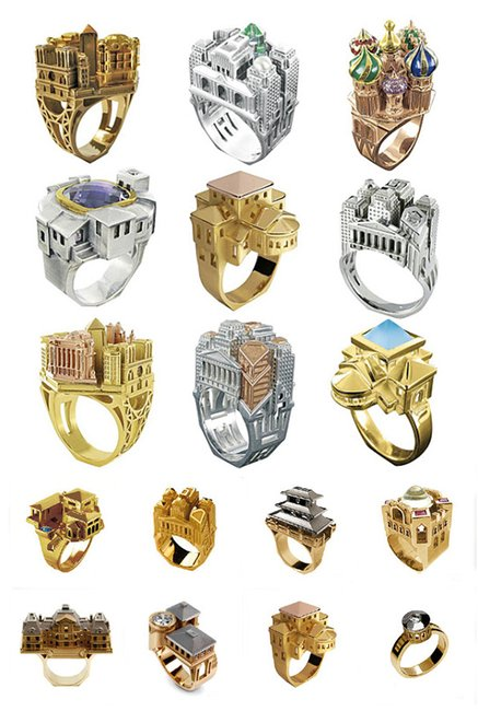 Architectural Rings by Philippe Tournaire
