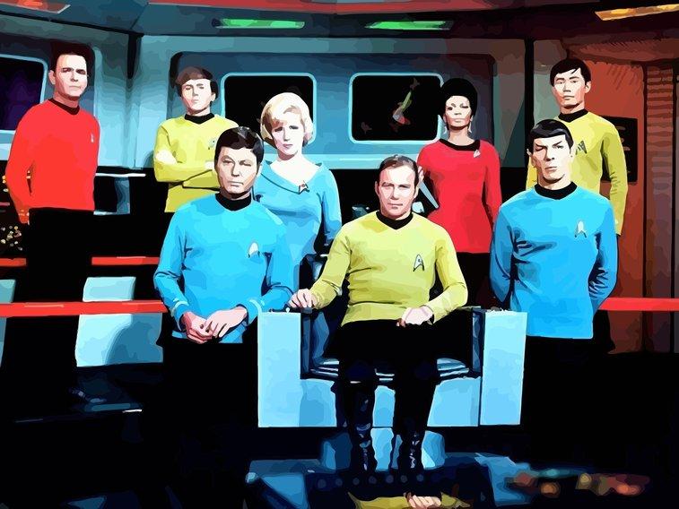 Original Star Trek cast ... in vector format