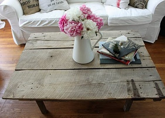 DIY Barn Door Coffee Table
