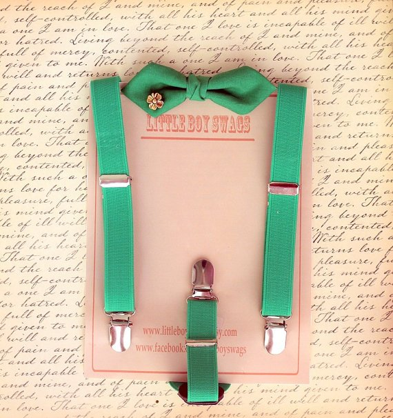 St. Patrick's Day Suspender and Bow Tie Set