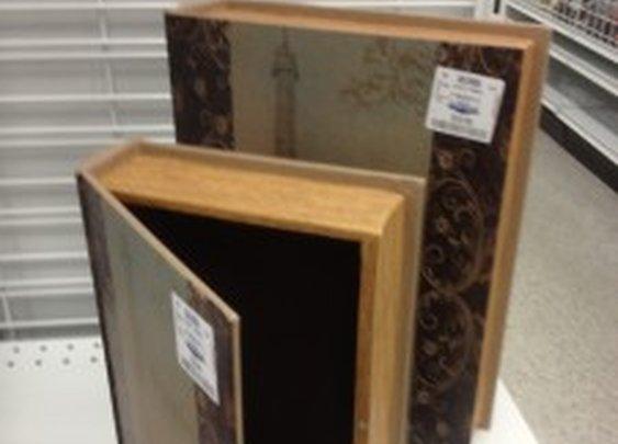 Secret Compartment Faux Wooden Book   StashVault