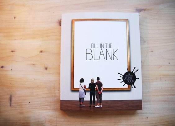 Fill in the Blank Inspirational Sketchbook | That Should Be Mine
