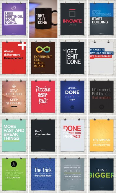 Startup Vitamins Motivational Posters