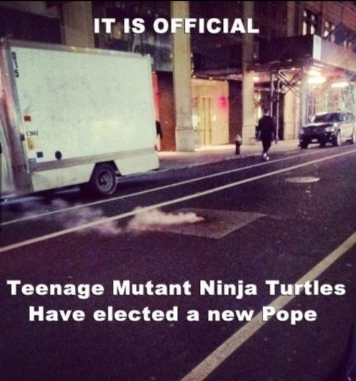 The Teenage Mutant Ninja Turtles Have Elected a New Pope