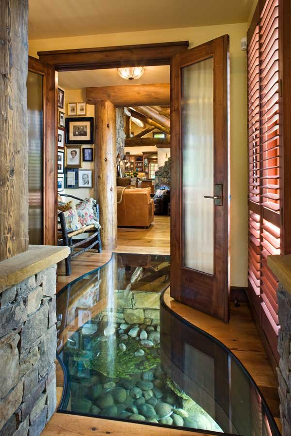 And a river runs through it......the house!