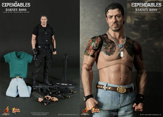 Hot Toys The Expendables Barney Ross Action Figure