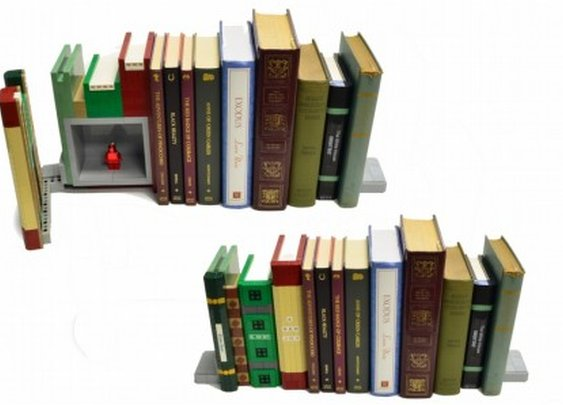 This stealthy bookend safe is made entirely out of LEGOs