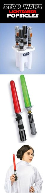 Lightsaber Popsicles.