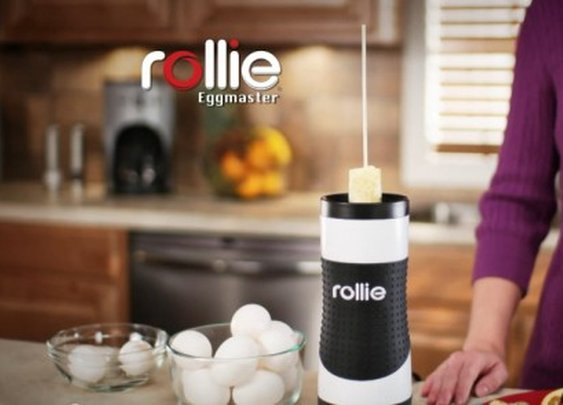 The Rollie Eggmaster Cooking System turns omelets into sausages