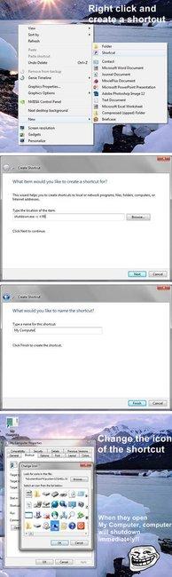 Shutdown Windows Computer Prank