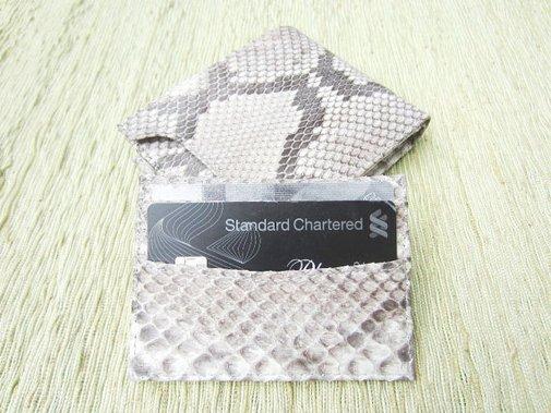 Snakeskin Leather Men Wallet  Bifold Leather Wallet by mrhanz