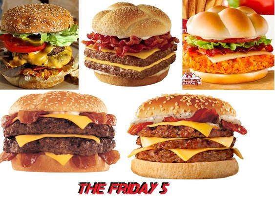 The Friday 5: My 5 Favorite Fast Food Sandwiches (that I had to give up) : 101 or Less