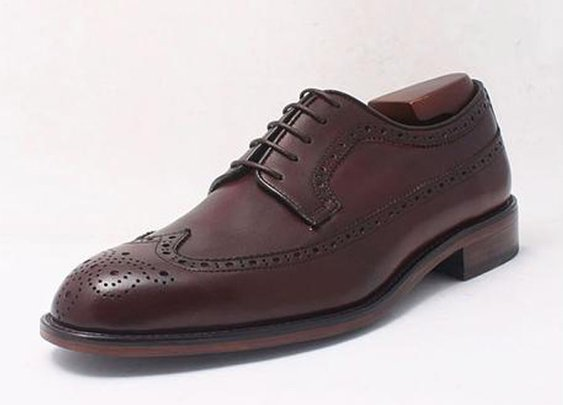 Custom Long Wing Brogue Derby Shoe