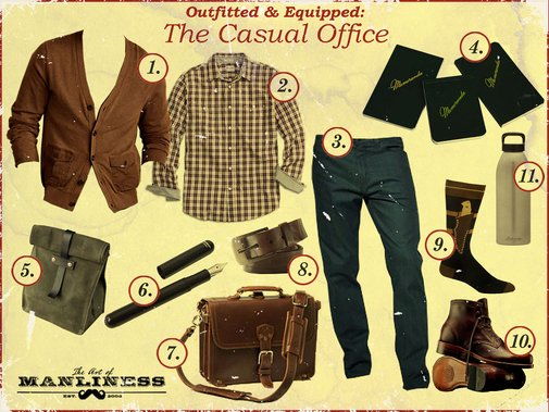 Outfitted & Equipped: The Casual Office   The Art of Manliness