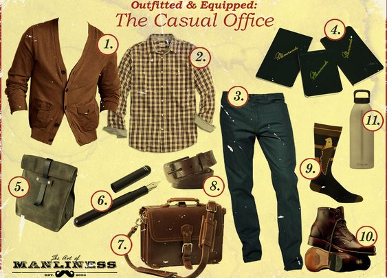 Outfitted & Equipped: The Casual Office | The Art of Manliness