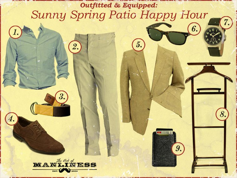 Outfitted & Equipped: Sunny Spring Patio Happy Hour | The Art of Manliness