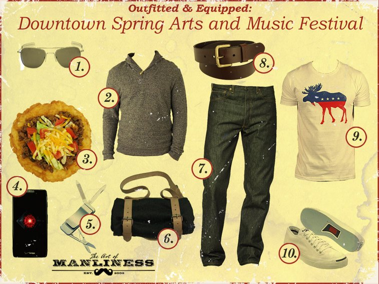 Outfitted & Equipped: Downtown Spring Arts and Music Festival   The Art of Manliness