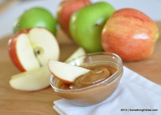 Caramel Peanut Butter Dip in Only Three Ingredients.