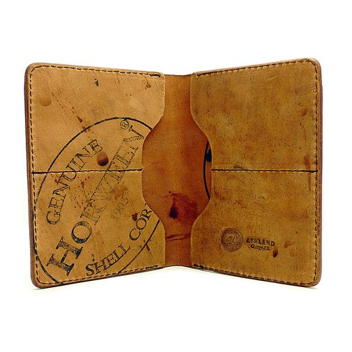 Fat Herbie - Color #8 Shell Cordovan Wallet - Reverse   Ashland Leather