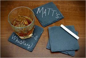 Chalkboard Slate Coasters | Cheaper Than A Shrink