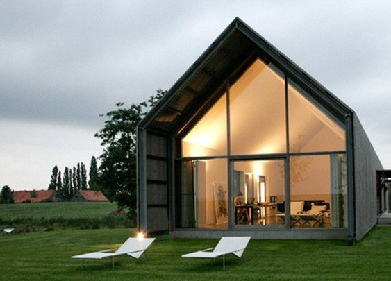 Modern Minimalist Eclectic House renovated from Stables Horse