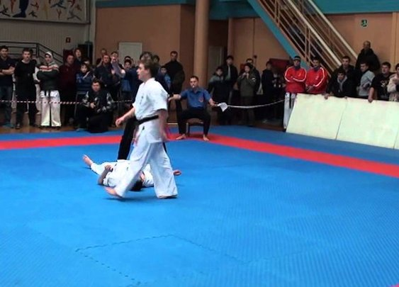 Knockout Kick at the PPO Karate Championships