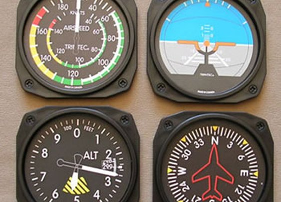 Flight Instrument Coasters