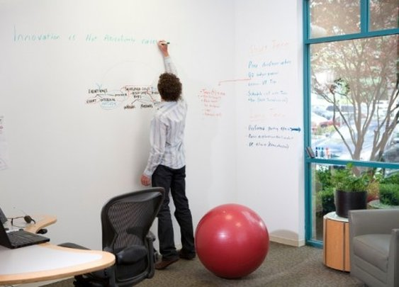 IdeaPaint turns walls into dry erase boards